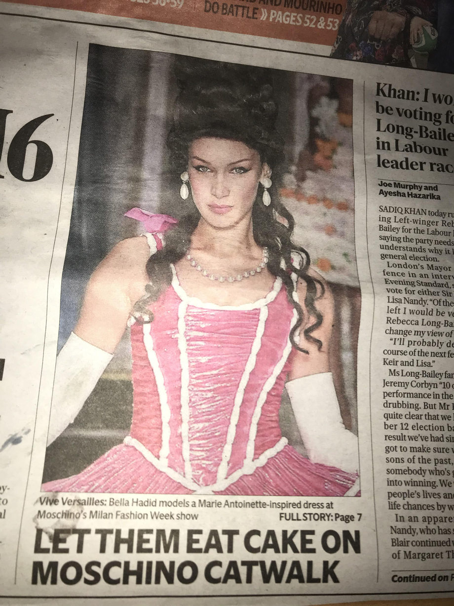 Front page of today's London Evening Standard; improving my commute home! | Bella Hadid  Porn XXX | Celebrity Nakeds XXX