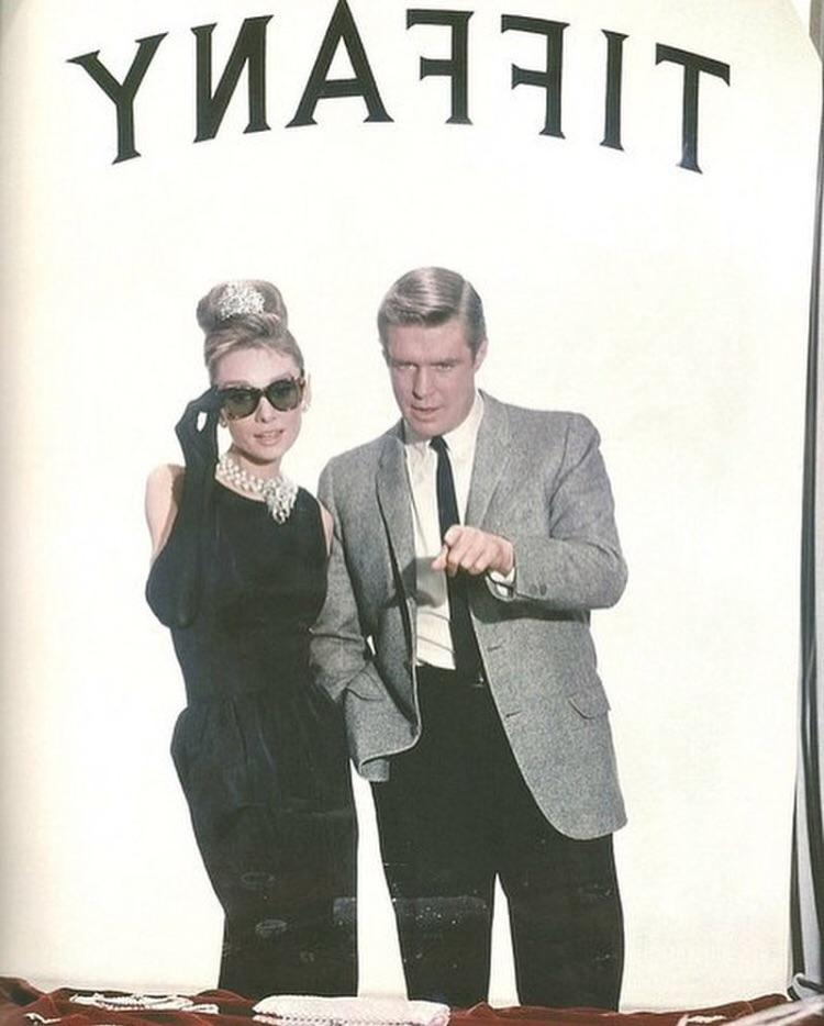 George and Audrey in a publicity shot for Breakfast at Tiffany's | Audrey Hepburn  Porn XXX | Celebrity Nakeds XXX
